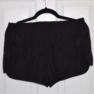 Pants - Black Exercise Shorts